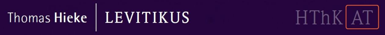 Levitikus – Leviticus